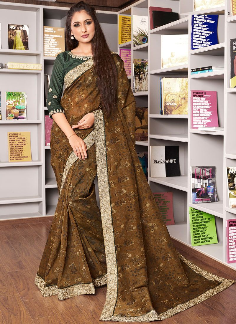 Multi Colour Patch Border Traditional Designer Saree