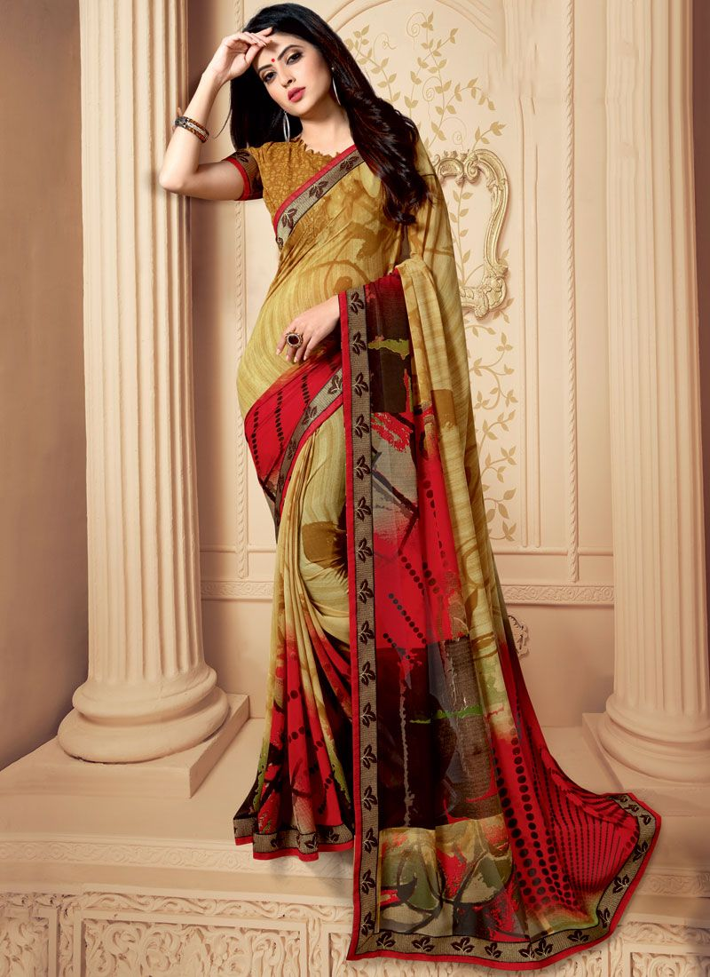 Multi Colour Patch Border Weight Less Casual Saree