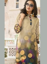 Multi Colour Poly Rayon Casual Casual Kurti