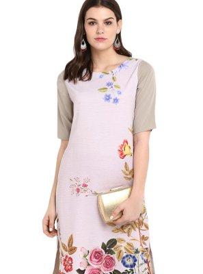 Multi Colour Print Casual Kurti