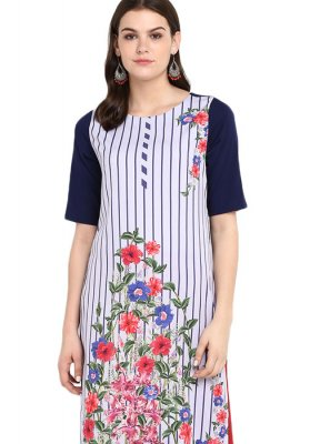 Multi Colour Print Festival Casual Kurti
