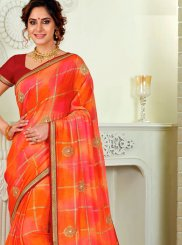 Multi Colour Print Festival Classic Saree