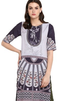 Multi Colour Print Festival Party Wear Kurti