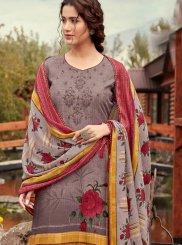 Multi Colour Print Pashmina Designer Pakistani Suit