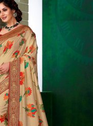 Multi Colour Print Traditional Saree