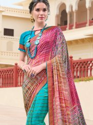Multi Colour Printed Casual Saree