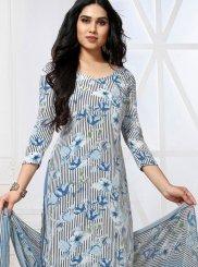 Multi Colour Printed Churidar Designer Suit