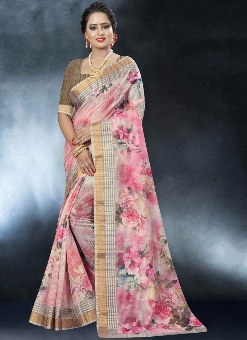 Multi Colour Printed Festival Classic Designer Saree