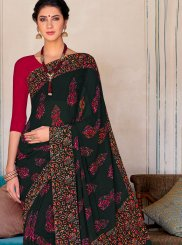 Multi Colour Printed Georgette Casual Saree