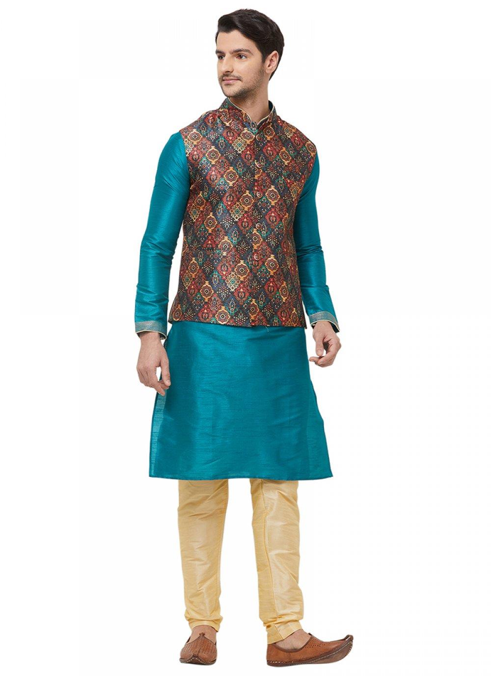 Multi Colour Printed Nehru Jackets