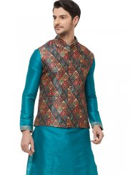 Multi Colour Printed Nehru Jackets