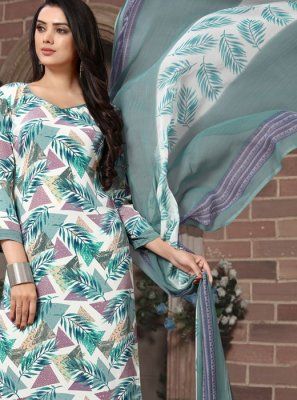 Multi Colour Printed Pakistani Salwar Kameez