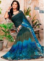 Multi Colour Printed Party Trendy Saree
