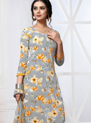 Multi Colour Printed Patiala Salwar Kameez