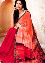 Multi Colour Printed Trendy Saree