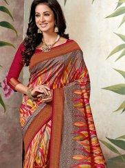 Multi Colour Raw Silk Festival Traditional Saree