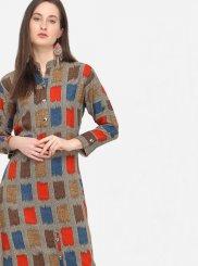 Multi Colour Rayon Designer Kurti