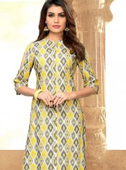 Multi Colour Rayon Festival Party Wear Kurti