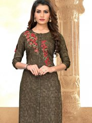 Multi Colour Rayon Party Wear Kurti