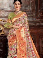 Multi Colour Sangeet Traditional Saree