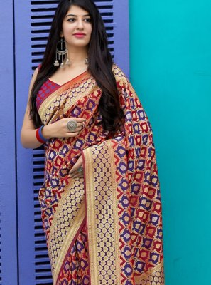 Multi Colour Silk Saree