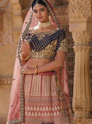 Multi Colour Silk Trendy Designer Lehenga Choli