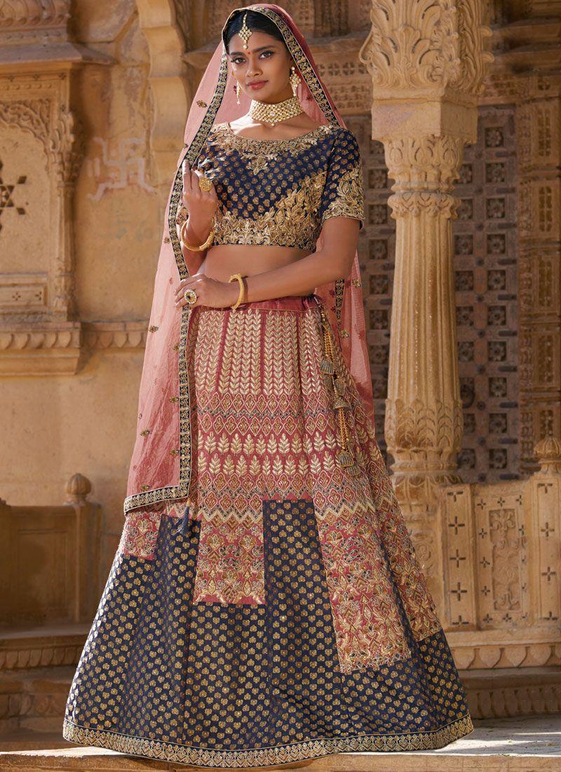 Multi Colour Silk Trendy Designer Lehenga Choli