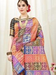 Multi Colour Traditional Designer Saree