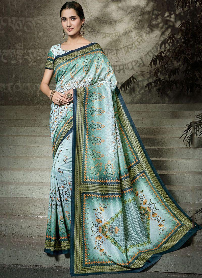 Multi Colour Tussar Silk Ceremonial Traditional Saree