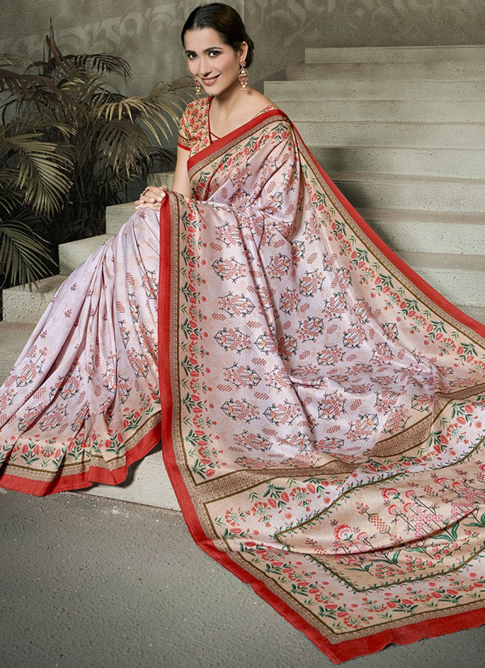 Multi Colour Tussar Silk Designer Traditional Saree