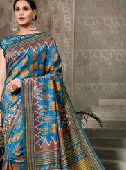 Multi Colour Tussar Silk Silk Saree
