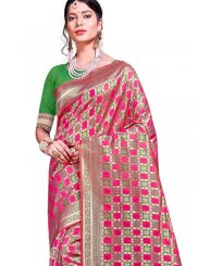 Multi Colour Weaving Art Silk Traditional Designer Saree