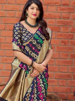 Multi Colour Weaving Art Silk Traditional Saree