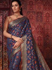 Multi Colour Weaving Cotton Silk Designer Traditional Saree