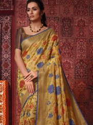 Multi Colour Weaving Cotton Silk Traditional Saree