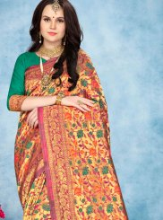 Multi Colour Weaving Festival Designer Traditional Saree