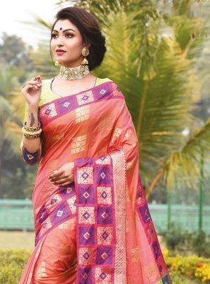 Multi Colour Weaving Festival Designer Traditional Saree