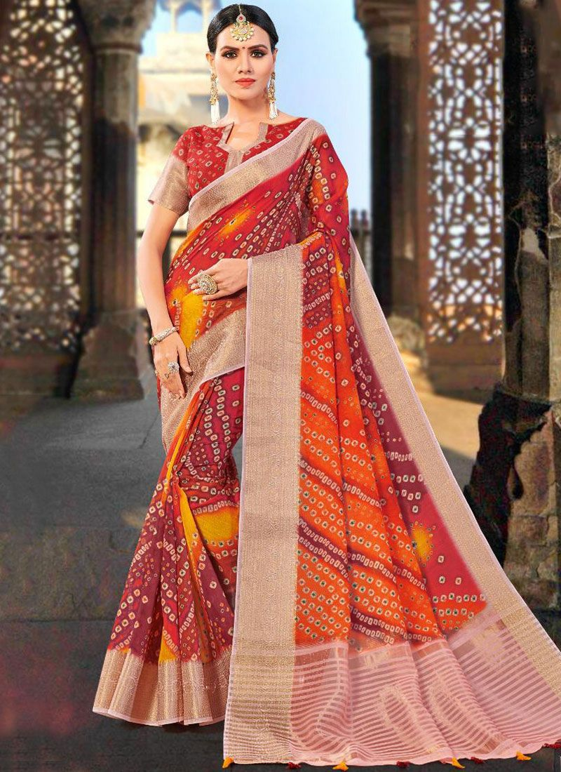 Multi Colour Weaving Festival Shaded Saree