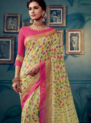 Multi Colour Weaving Festival Traditional Saree