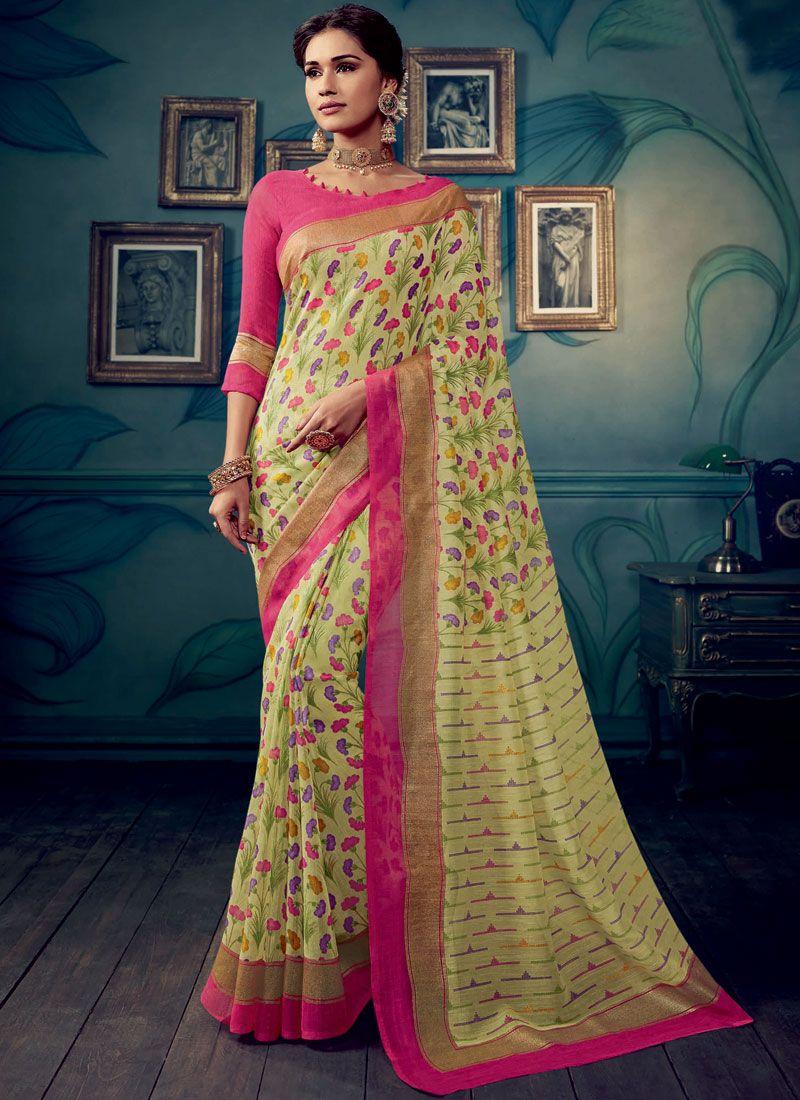 Multi Colour Weaving Festival Traditional Saree