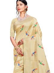 Multi Colour Weaving Traditional Saree