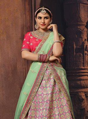 Multi Colour Wedding Designer Lehenga Choli
