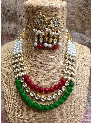 Multi Colour Wedding Necklace Set