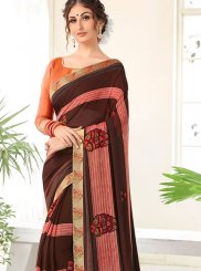 Multi Colour Weight Less Abstract Print Printed Saree