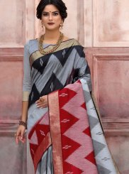 Multi Colour Woven Art Silk Designer Traditional Saree
