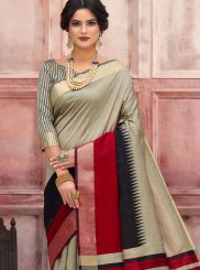 Multi Colour Woven Art Silk Traditional Designer Saree