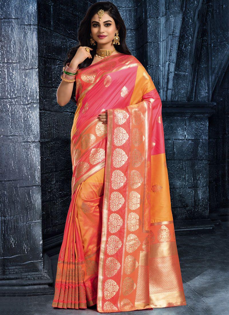 Multi Colour Woven Classic Saree