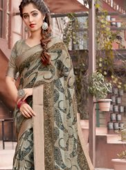 Multi Colour Woven Classic Saree
