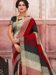 Multi Colour Woven Festival Traditional Saree
