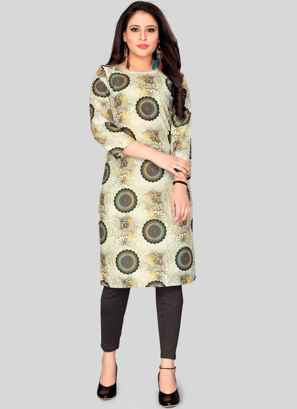 Muslin Casual Kurti in Multi Colour